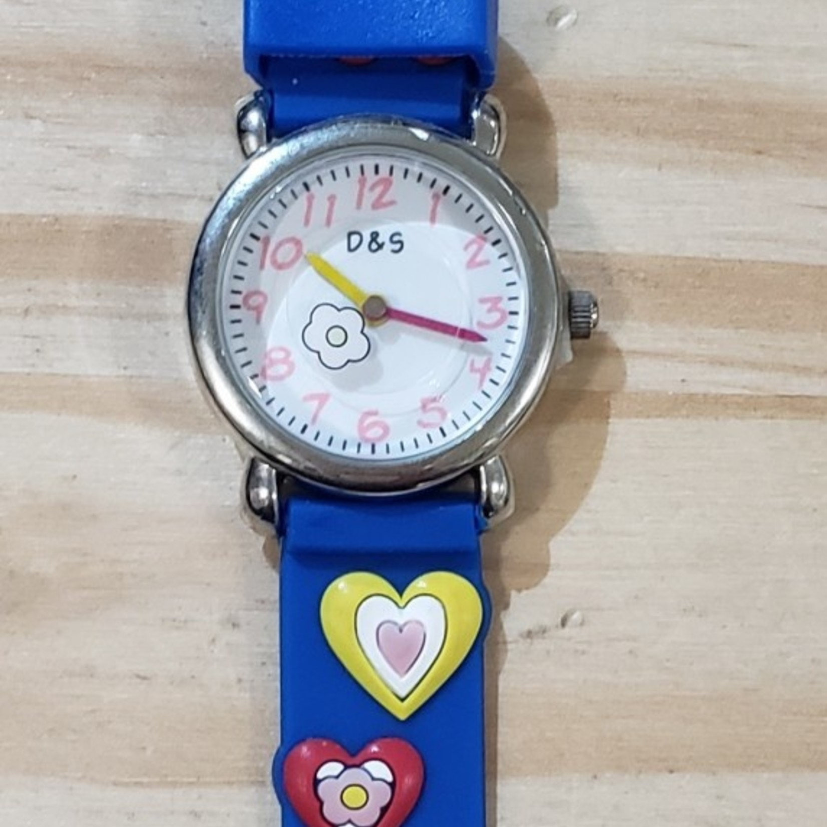 D&S Imports Watch - Hearts, Blue