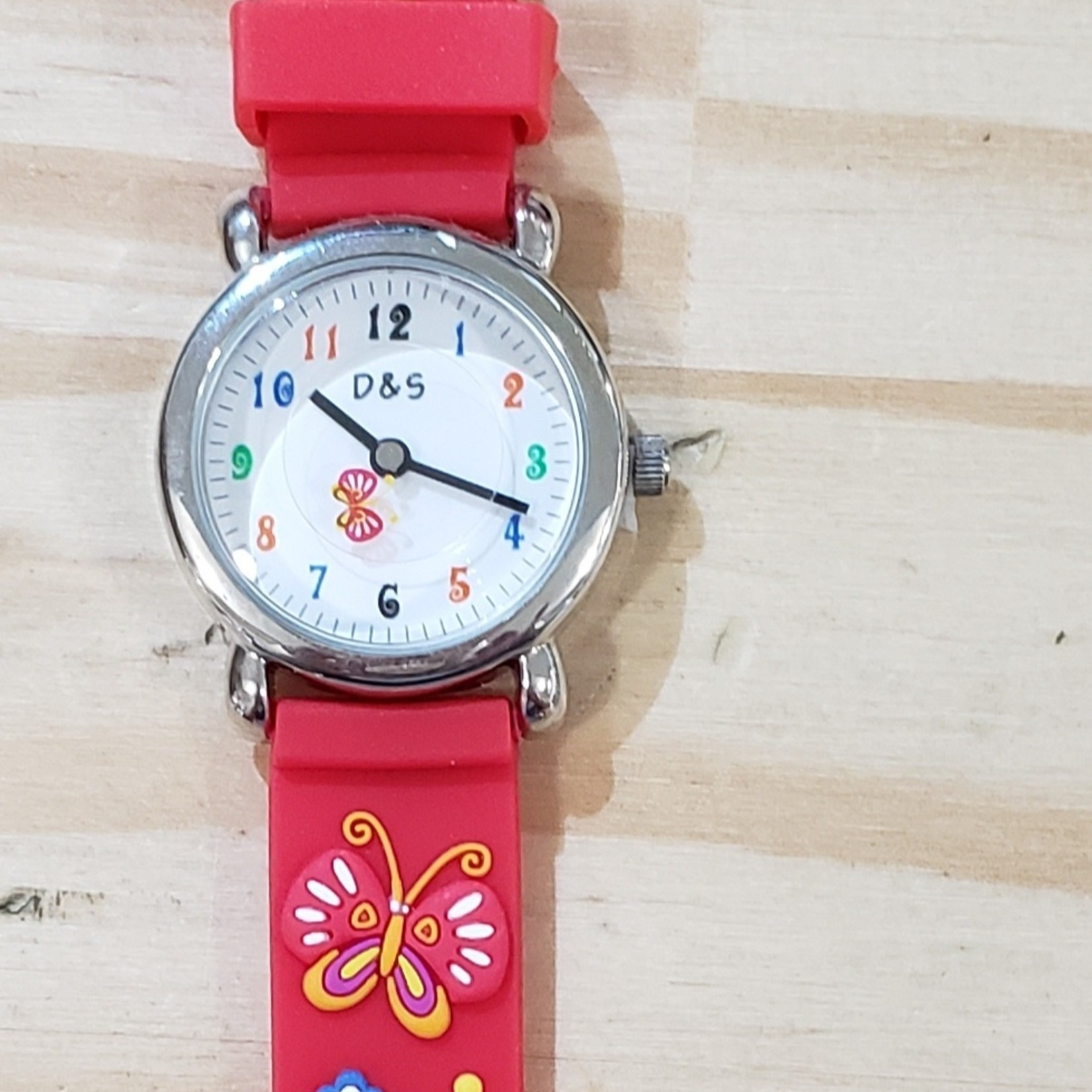 D&S Imports Watch - Butterfly, Red