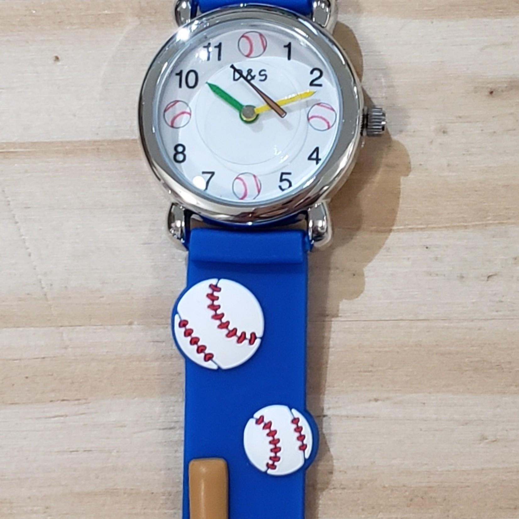 D&S Imports Watch - Baseball, Blue