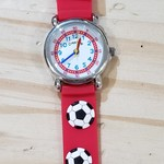 D&S Imports Watch - Soccer, Red