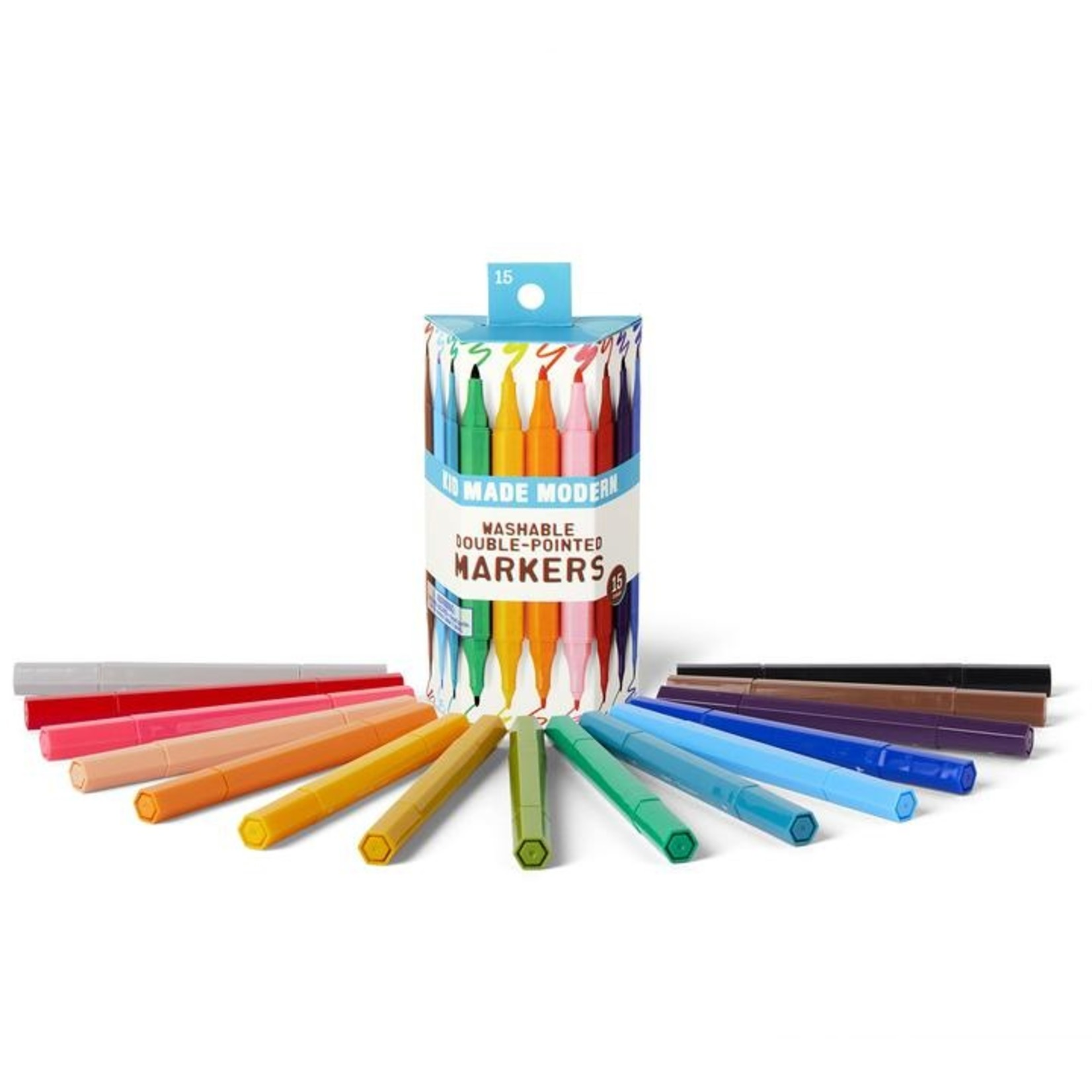 Kid Made Modern Washable Double Pointed Markers - 15 count