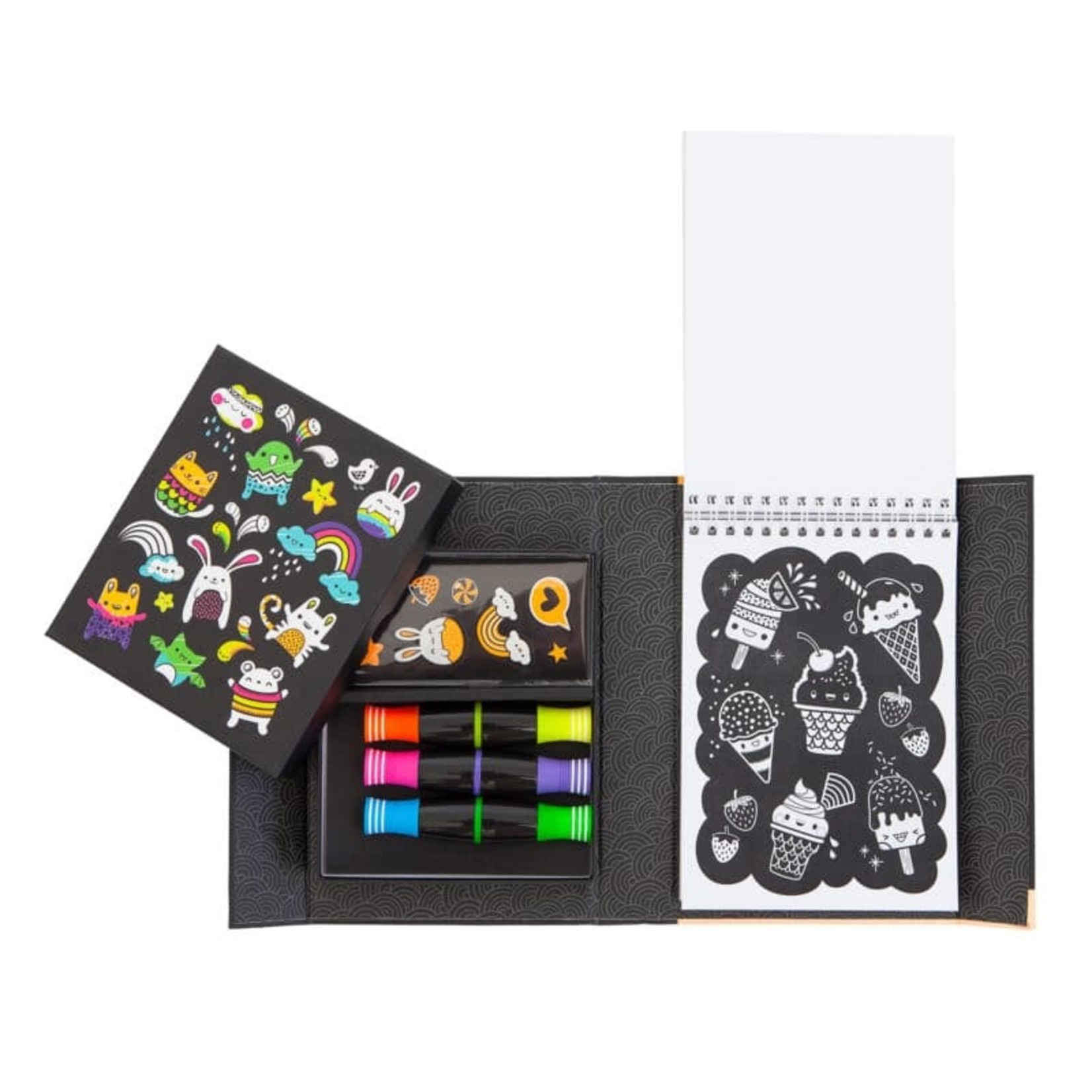 Schylling Glow Friends - Neon Coloring Set