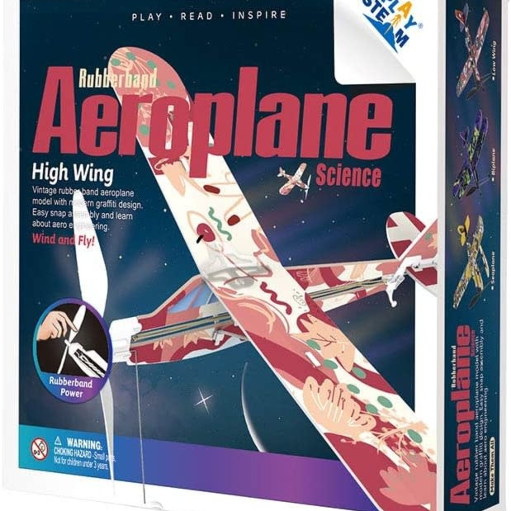 Play Steam Rubberband Aeroplane Science