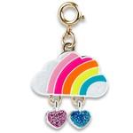 Charm It! Gold Rainbow Cloud Charm
