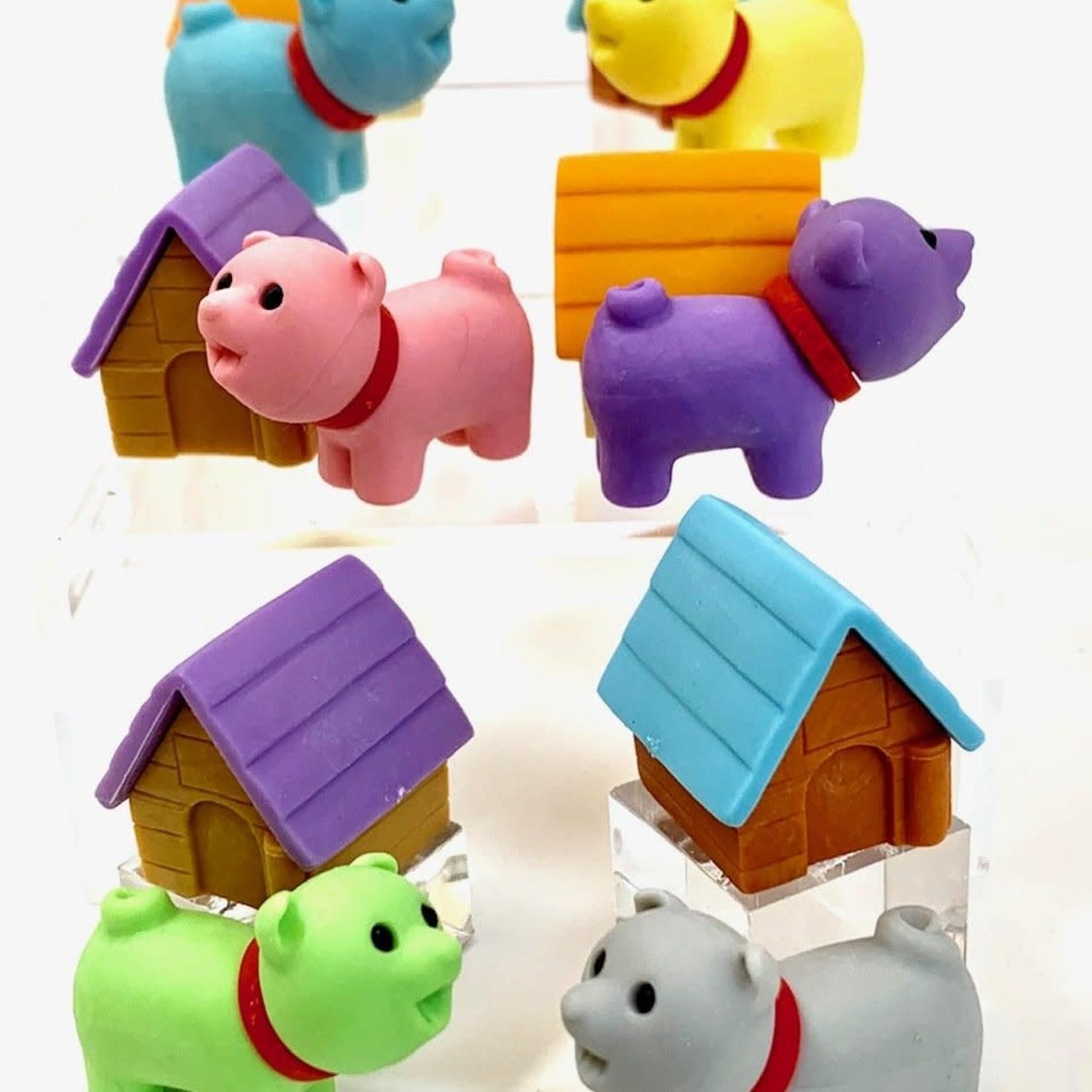BC USA Iwako Dog House Erasers