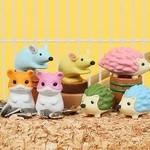 BC USA Iwako Hamster, Hedgehog, Mouse Erasers