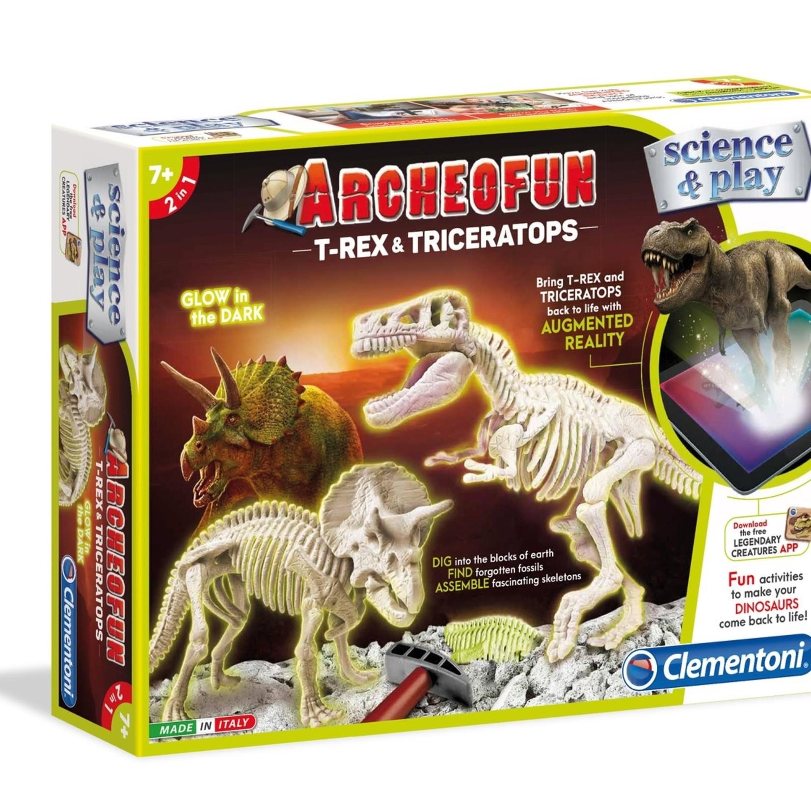 Archofun T-Rex & Triceratops - Glow in the Dark