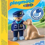 Playmobil Police Officer with Dog - Playmobil 1,2,3  79408