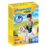 Playmobil Boy with Pony - Playmobil 1,2,3  70410