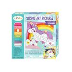 Bright Stripes String Art Pictures - Unicorn