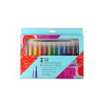 Bright Stripes Watercolor Pastels & Brush