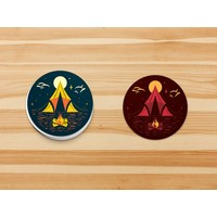 FERAL Tent Circle Stickers