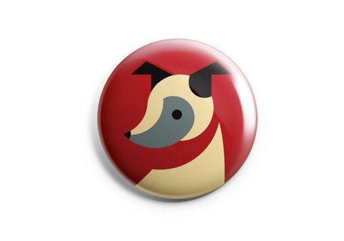 FERAL FERAL Dog Button
