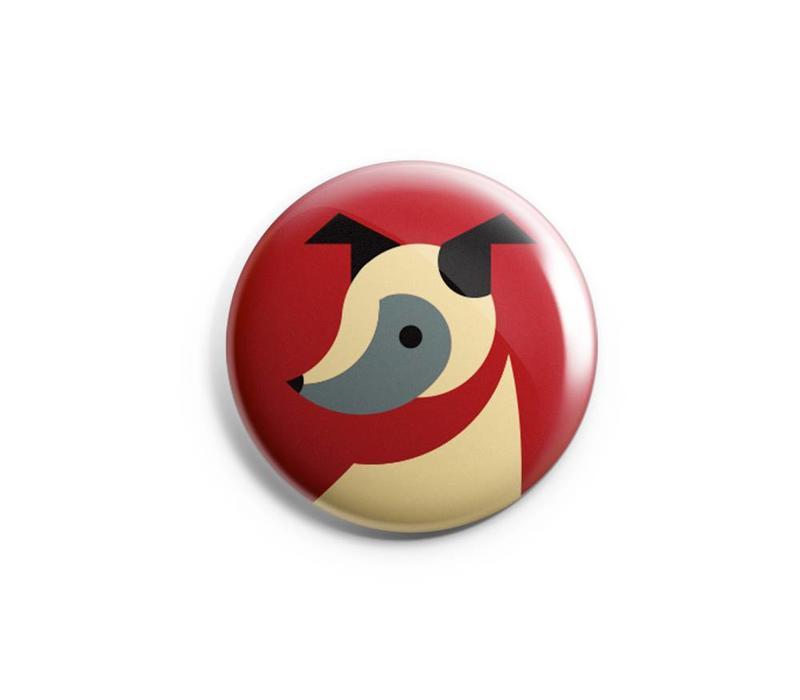 FERAL Dog Button