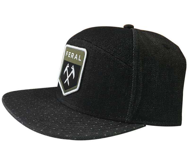 FERAL Five Panel Patch Hat