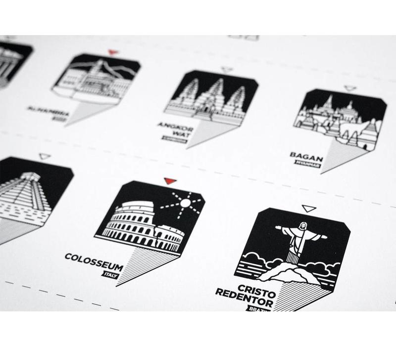 Wanderwide World Wonder Registry Print - Rolled