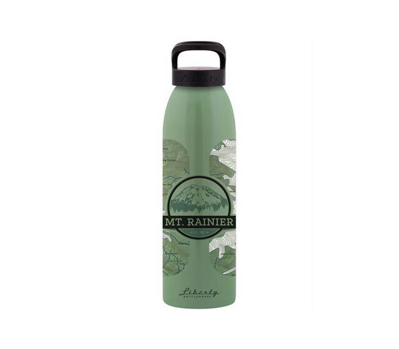Liberty Bottleworks Topo Water Bottle Mt. Rainier 24 oz.