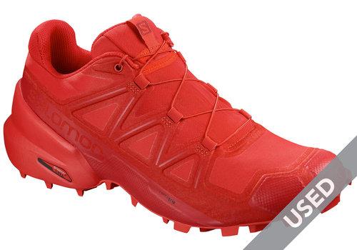 Salomon Men's Speedcross 5 Running Shoes Red Size 9.5 USED