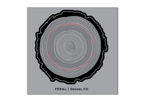 FERAL Tree Trunk Sticker