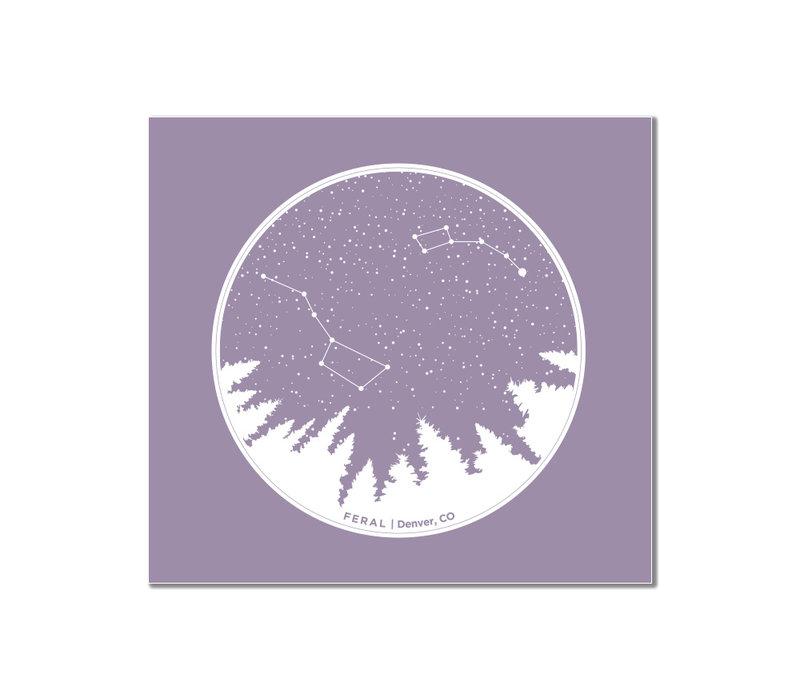FERAL Constellation Sticker