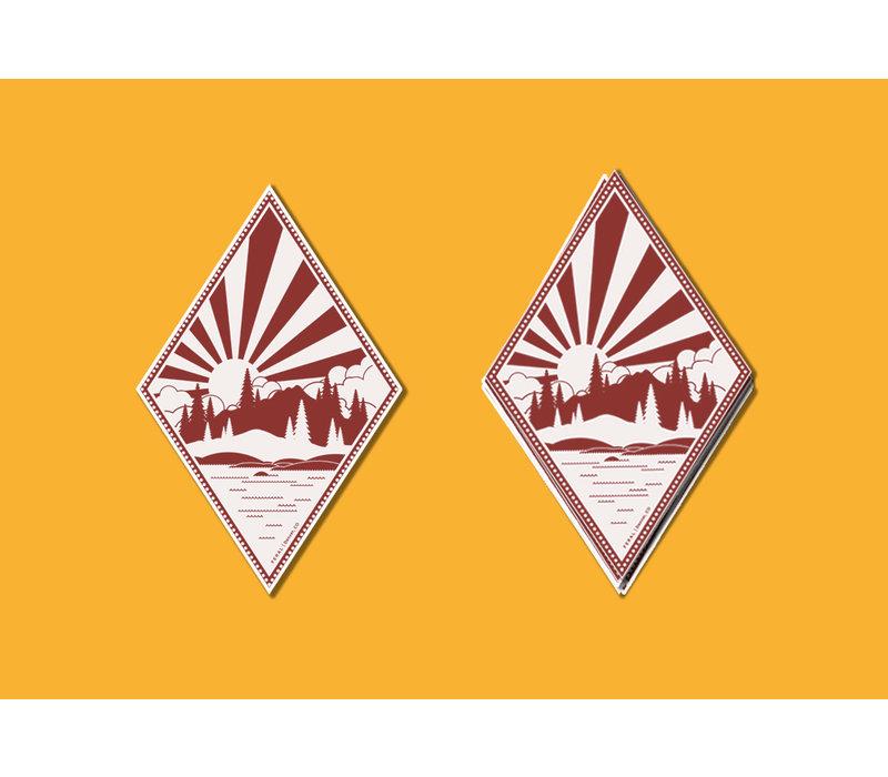 FERAL Alpine Lake Red | White Sticker