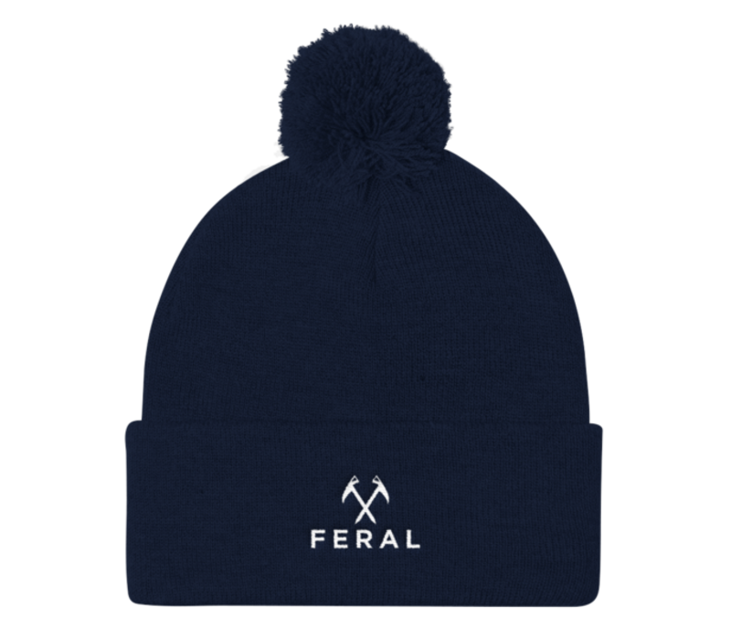 FERAL Back to Basics Embroidered Cuffed Beanie