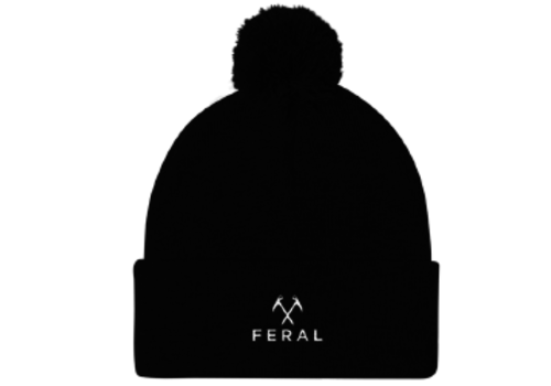 FERAL FERAL Back to Basics Embroidered Cuffed Beanie