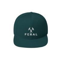FERAL Back to Basics Embroidered Snapback Hat