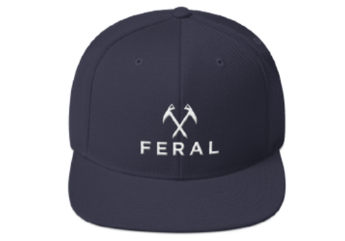 FERAL FERAL Back to Basics Embroidered Snapback Hat
