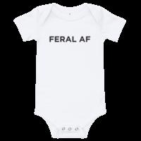FERAL AF Baby Onesie