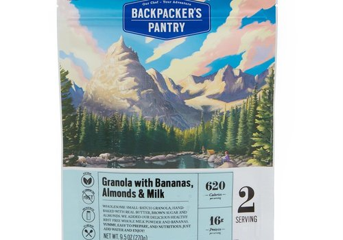 Backpacker's Pantry Backpacker's Pantry Granola With Bananas, Almonds & Milk (2 Servings - 9.5 oz)