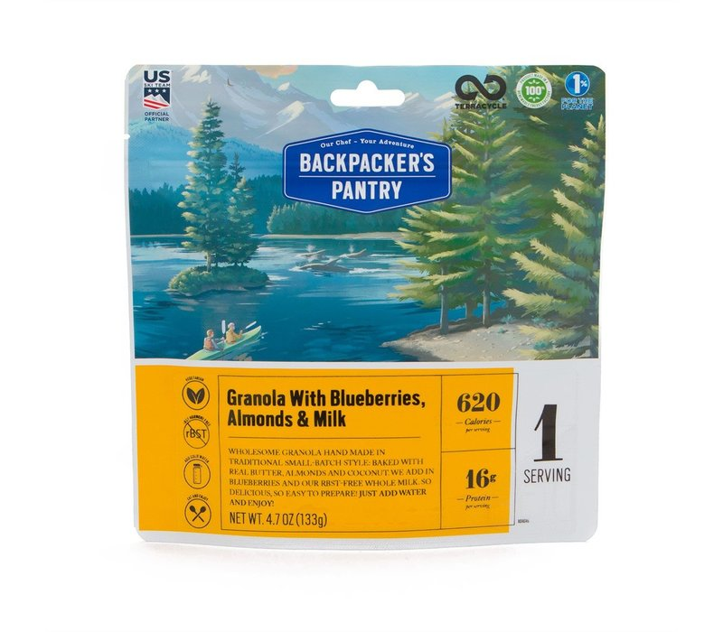 Backpacker's Pantry Granola With Blueberries, Almonds & Milk (1 Serving - 4.7 oz)
