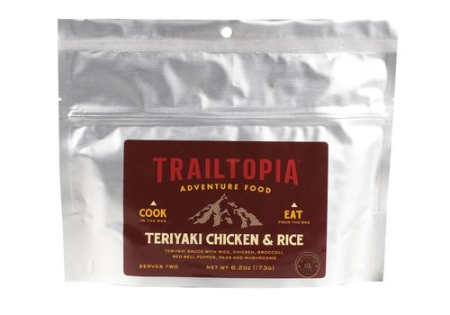 Trailtopia Teriyaki Chicken & Rice Dehydrated Food (2 Servings - 5.8oz.)