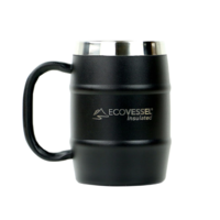 EcoVessel 16oz Double Barrel Insulated Mug w/ Handle