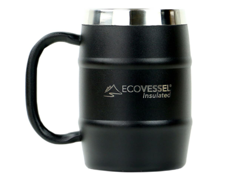 EcoVessel EcoVessel 16oz Double Barrel Insulated Mug w/ Handle