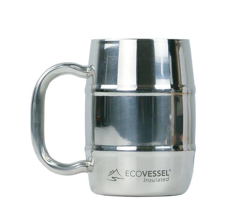EcoVessel 16oz Double Barrel Insulated Mug w/ Handle