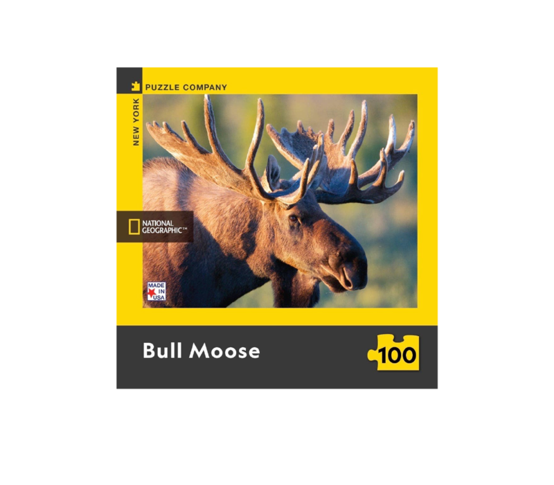 National Geographic Bull Moose 100 Piece Puzzle