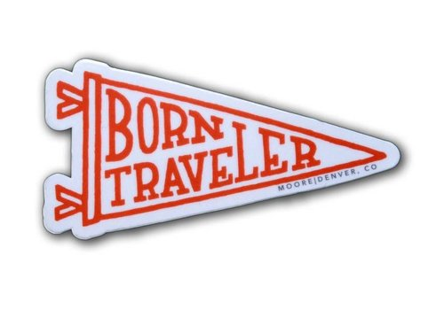 Moore Collection Moore Collection Born Traveler Sticker