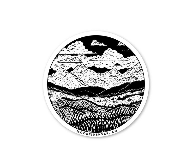 Moore Collection Mountain Range Sticker