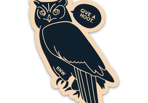 Keep Nature Wild Keep Nature Wild Give a Hoot Sticker