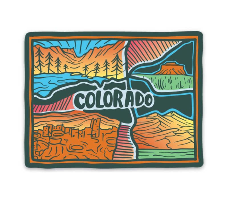 Keep Nature Wild Colorado Landscape Sticker