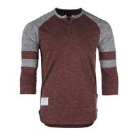 Zimego Men's Quarter 3/4 Sleeve Baseball Henley Athletic Shirt