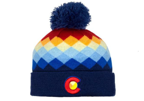 YoColorado YoColorado Argyle Mountain Rainbow Beanie