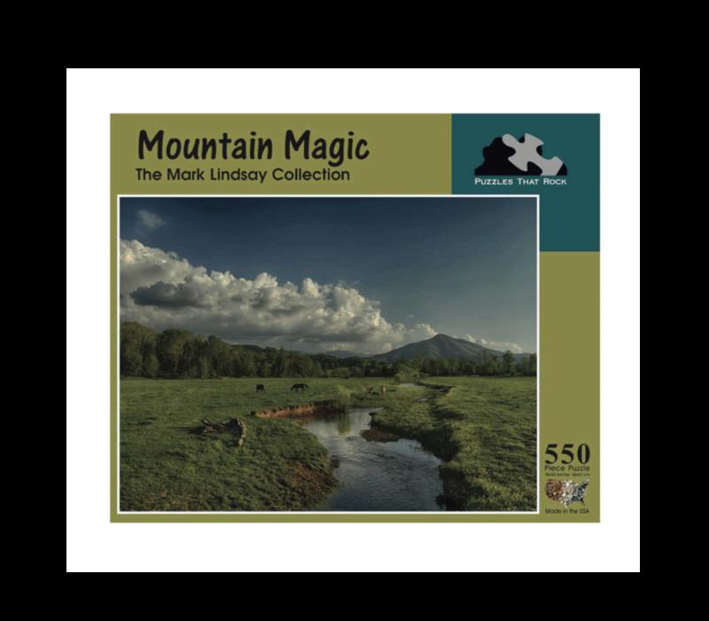 Puzzles that Rock Mountains Magic 550 Piece Puzzle