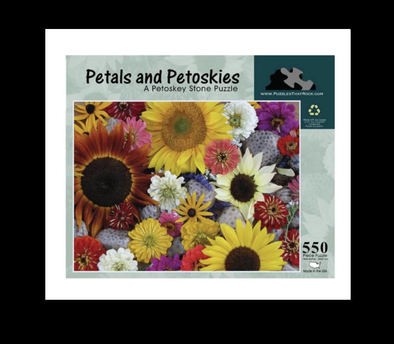 Puzzles that Rock Flower Petals 550 Piece Puzzle