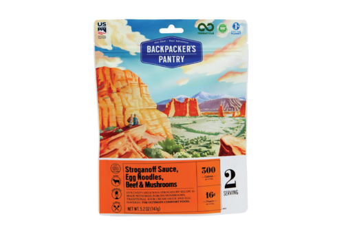 Backpacker's Pantry Backpacker's Pantry Beef Stroganoff Sauce, Egg Noodles, Beef & Mushrooms Freeze Dried Meal