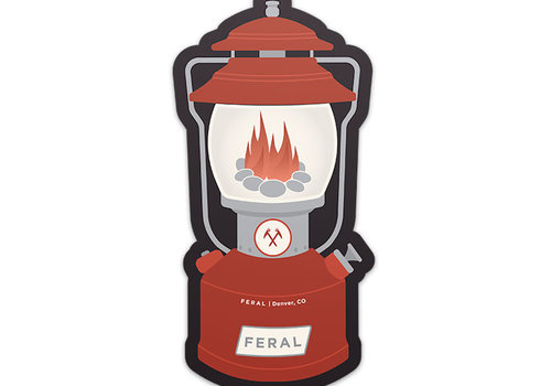 FERAL FERAL Red Lantern Sticker