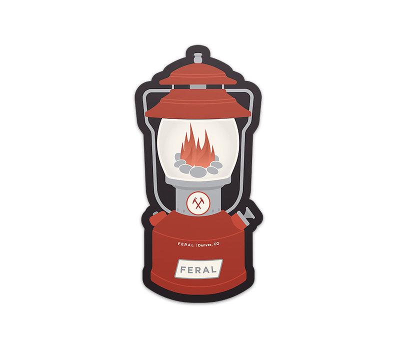 FERAL Red Lantern Sticker