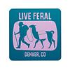 FERAL FERAL Live FERAL Llama Sticker Blue   Purple