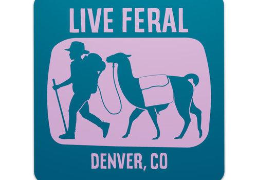FERAL FERAL Live FERAL Llama Sticker Blue | Purple